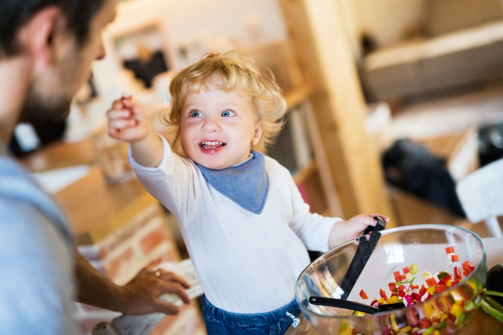 Get the kids involved with easily made baby food.