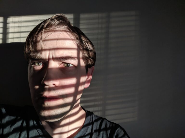 Bound by Light and Shadow - Terrified Young Man